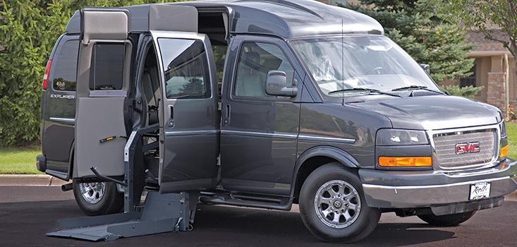 Rollx Vans full size wheelchair vans for sale side doors open