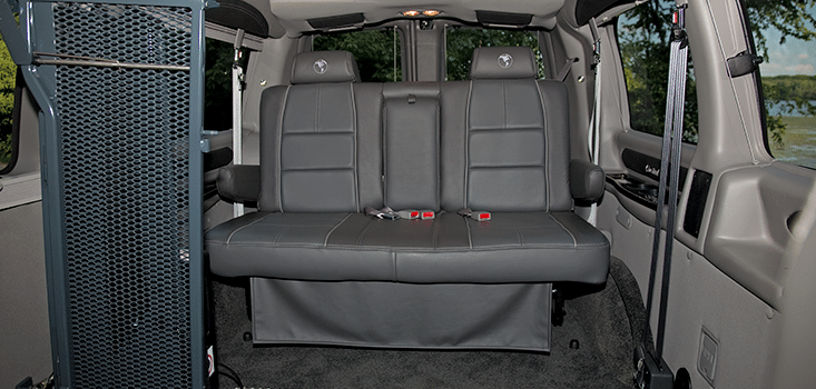 Rollx Vans full size wheelchair vans for sale rear seat