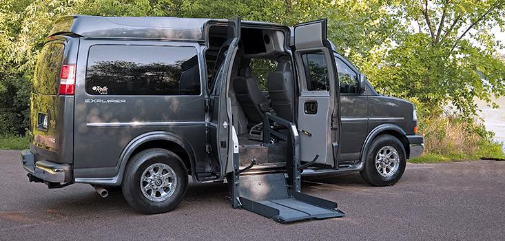 Rollx Vans full size wheelchair vans for sale lift on ground