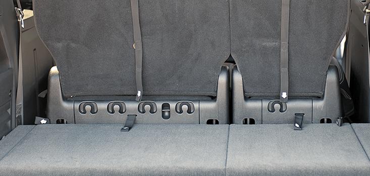 Rollx Vans Dodge Grand Caravan wheelchair van rear storage