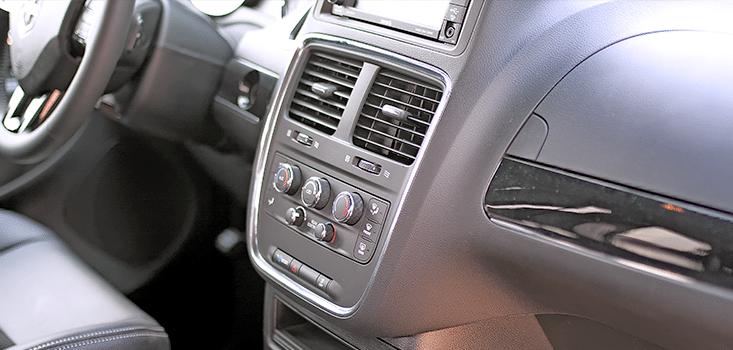 Rollx Vans Dodge Grand Caravan wheelchair van dash heater controls