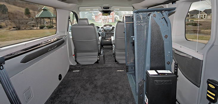 Rollx Vans Ford transit wheelchair van floor and lift