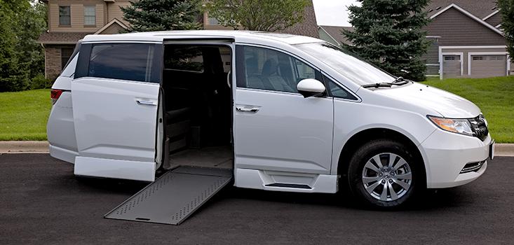 Rollx Vans Honda Odyssey wheelchair van side ramp out