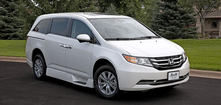 Rollx Vans Honda Odyssey wheelchair van front passenger side