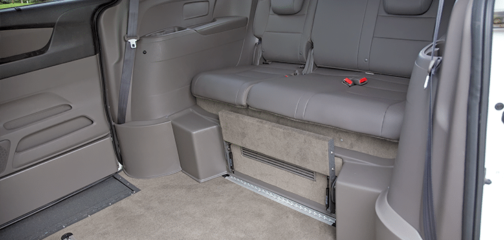 Rollx Vans Honda Odyssey wheelchair van rear foot rest