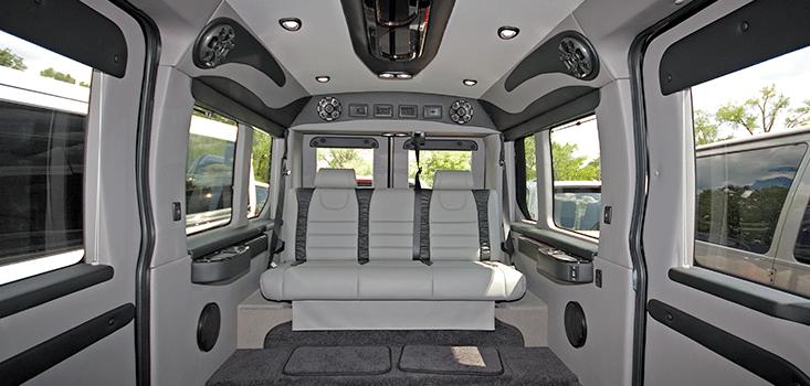 Rollx Vans Dodge Ram Promaster wheelchair van rear seat