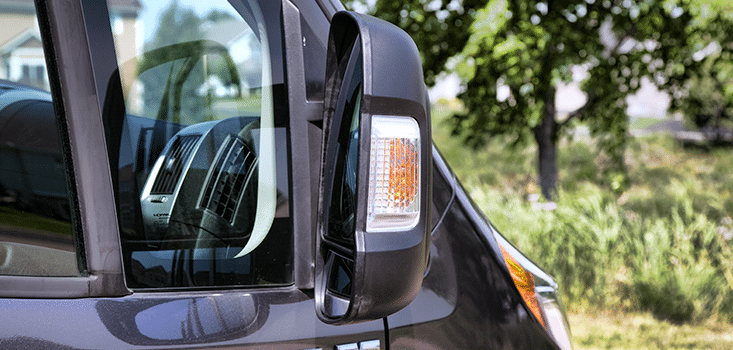 Rollx Vans Dodge Ram Promaster wheelchair van passenger mirror