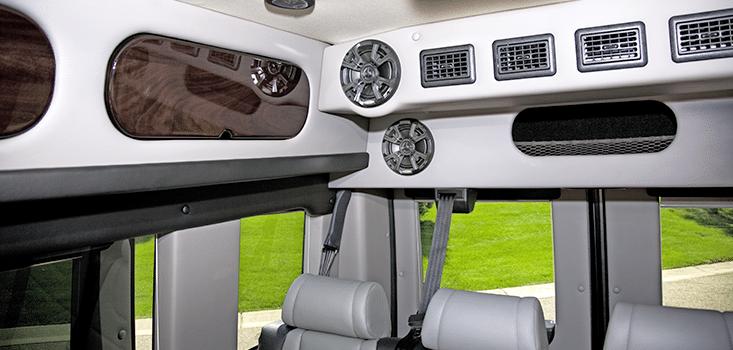 Rollx Vans Dodge Ram Promaster wheelchair van rear stereo