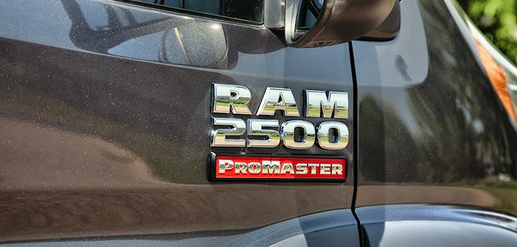 Rollx Vans Dodge Ram Promaster wheelchair van door logo