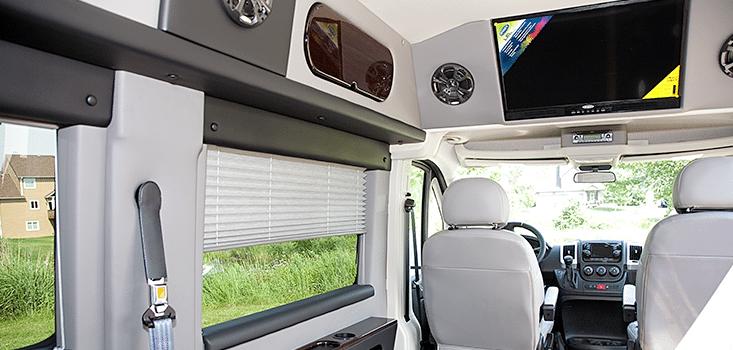 Rollx Vans Dodge Ram Promaster wheelchair van driver interior