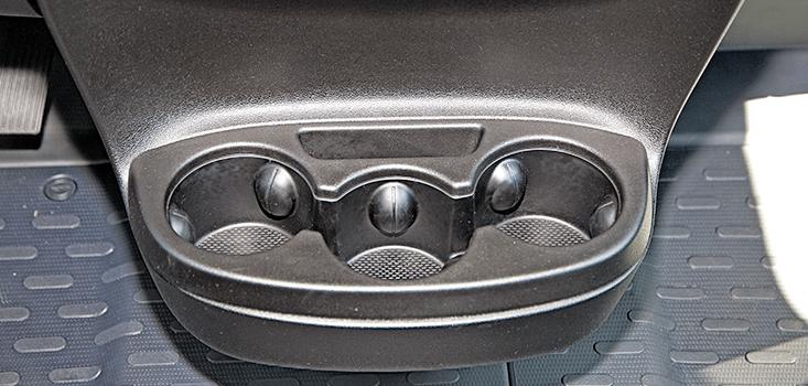 Rollx Vans Dodge Ram Promaster wheelchair van drink holder