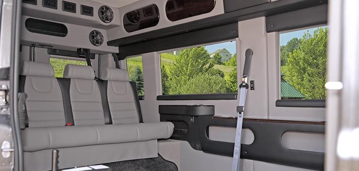 Rollx Vans Dodge Ram Promaster wheelchair van driver side