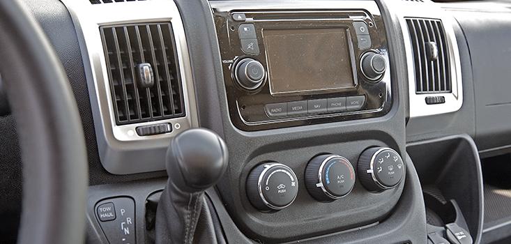 Rollx Vans Dodge Ram Promaster wheelchair van stereo