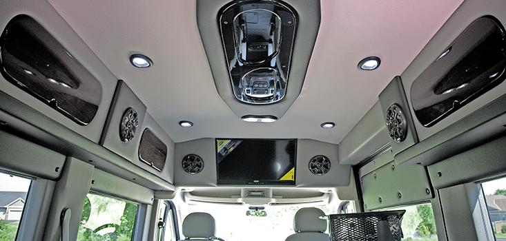Rollx Vans Dodge Ram Promaster wheelchair van ceiling