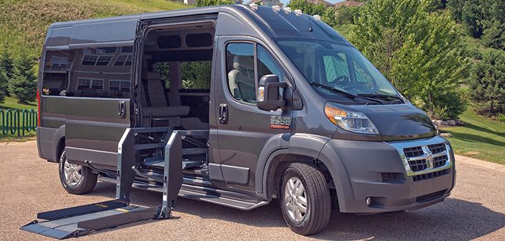 Rollx Vans Dodge Ram Promaster wheelchair van open