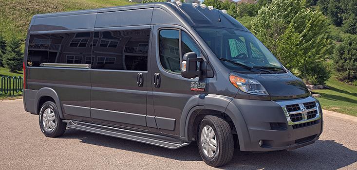 Rollx Vans Dodge Ram Promaster wheelchair van closed