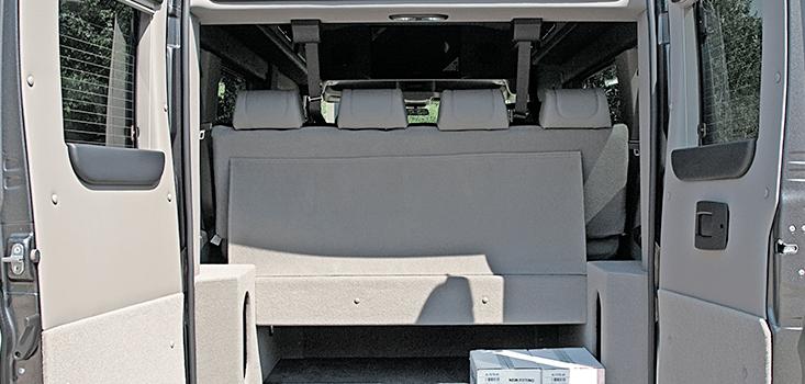 Rollx Vans Dodge Ram Promaster wheelchair van rear storage
