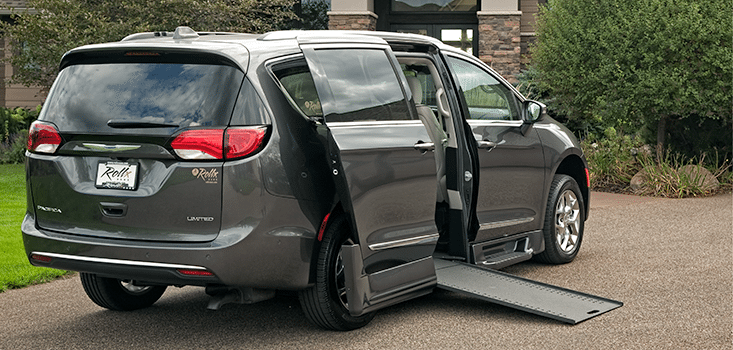 Rollx Vans Chrysler Pacifica Wheelchair van ramp out