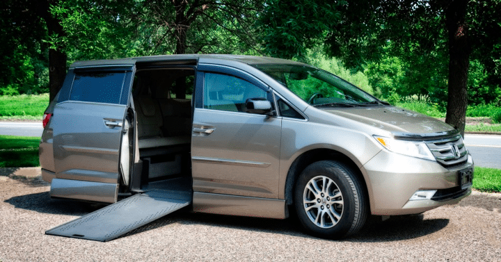 Customizing a wheelchair van with a sliding ramp